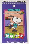 Snoopy rollerblading with Woodstock Spiral Notebook