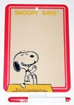 Snoopy on Doghouse 'Snoopy Says' Dry Erase Board