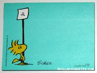 Woodstock with frown sign Post it Notes