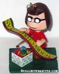 Marcie holding 'Merry Christmas' banner Ornament