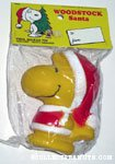Woodstock in Santa Suit dog squeak toy