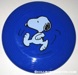 Snoopy Kicking Plastic Flying Disc