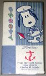 Sailor Snoopy walking with flags Notebook