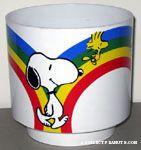 Snoopy & Woodstock walking along rainbow Planter