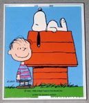 Snoopy on Doghouse with Linus Framed Print