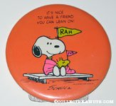 Snoopy & Woodstock Fans 'It's nice to have a friend you can lean on' Plaque