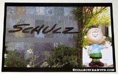 Charlie Brown Statue at the Charles M. Schulz Museum Postcard