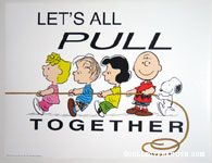 Let's all pull together