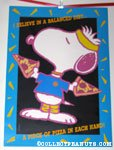 Aerobic Snoopy 'I believe in a balanced diet... a piece of pizza in each hand.' Poster