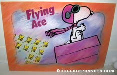 Snoopy Flying Ace and Woodstocks Poster