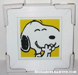 Snoopy laughing Framed Print
