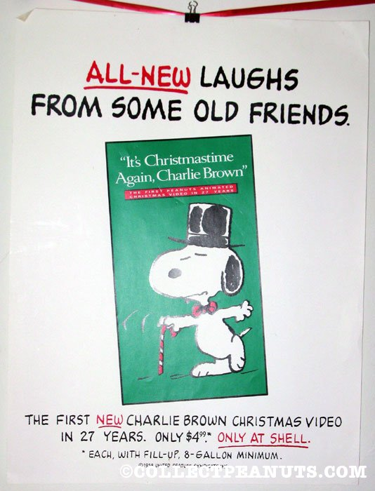 Its Christmas Time Again Charlie Brown.Peanuts Shell Gas Stations Collectpeanuts Com