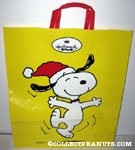 Snoopy Dancing in Stocking Hat Shopping Bag