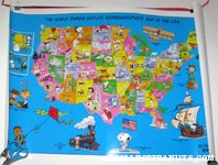 The World Famous Metlife Representative's Map of the World Poster
