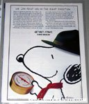 Beaglescout Snoopy with Compass Metlife Magazine Ad