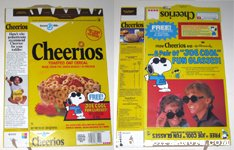 Peanuts Gang Cheerios Box - Joe Cool Glasses