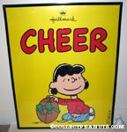 Lucy with Football 'Cheer' Hallmark poster
