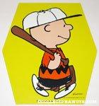 Baseball Charlie Brown cardboard hanging sign