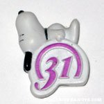 Snoopy laying on Baskin Robbins Logo Giveaway