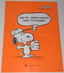 Baseball Snoopy Johnny Horizon Large Poster