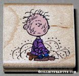 Pigpen sitting on stool Rubber Stamp
