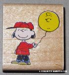 Lucy holding balloon Rubber Stamp