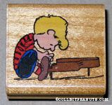 Schroeder playing piano Rubber Stamp