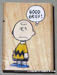 Charlie Brown 'Good Grief' Rubber Stamp