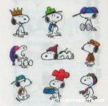 Snoopy hats Stickers