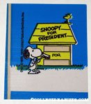 Snoopy with Broom, Woodstock and Doghouse 'Snoopy for President' Sticker