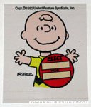 Charlie Brown wearing Campaign Button 'Elect __' Sticker
