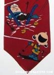 Peanuts Gang Skiing Necktie