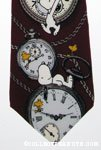 Snoopy and Woodstock with pocket watches Necktie