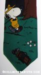 Snoopy playing golf with Woodstock in tree Necktie