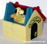 Snoopy taking bath in Dog House Toy