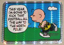 Charlie Brown football panel cartoon Prismatic Photo/Trading Card