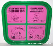 Snoopy & Charlie Brown 'Feed the Dog' Comic Metal Tray