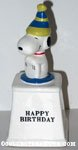 Snoopy wearing party hat 'Happy Birthday' Ceramic Trophy