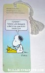Snoopy at Typewriter Spanish Bookmark