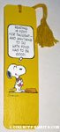 Snoopy holding book Bookmark