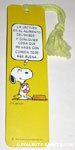 Snoopy holding book Spanish Bookmark