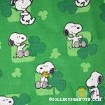 Snoopy & Woodstock with clovers St. Patrick's Day Fabric