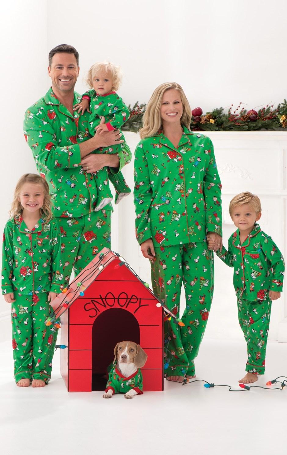 Charlie Brown Christmas Matching Family Pajamas from Pajamagram