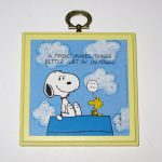 Snoopy and Woodstock on Doghouse 'A friend makes things better just by listening' Plaque