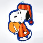 Snoopy in nightshirt holding candle Pajama Bag