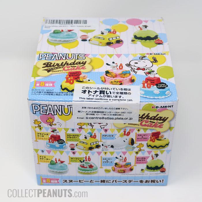 New Japan Re-ment Peanuts Snoopy Garden Party rement Set No.03