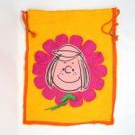 Peppermint Patty Flower Pajama Bag
