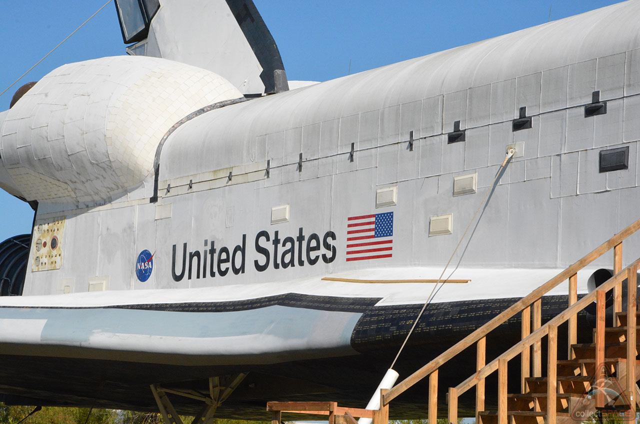 Space Shuttle Replica Vandalized Sprayed With Graffiti In