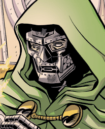 I am only a detail of the illustration. Link to Rich Ellis' sketch blog. Doom commands it!