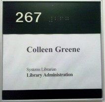 My office name plate